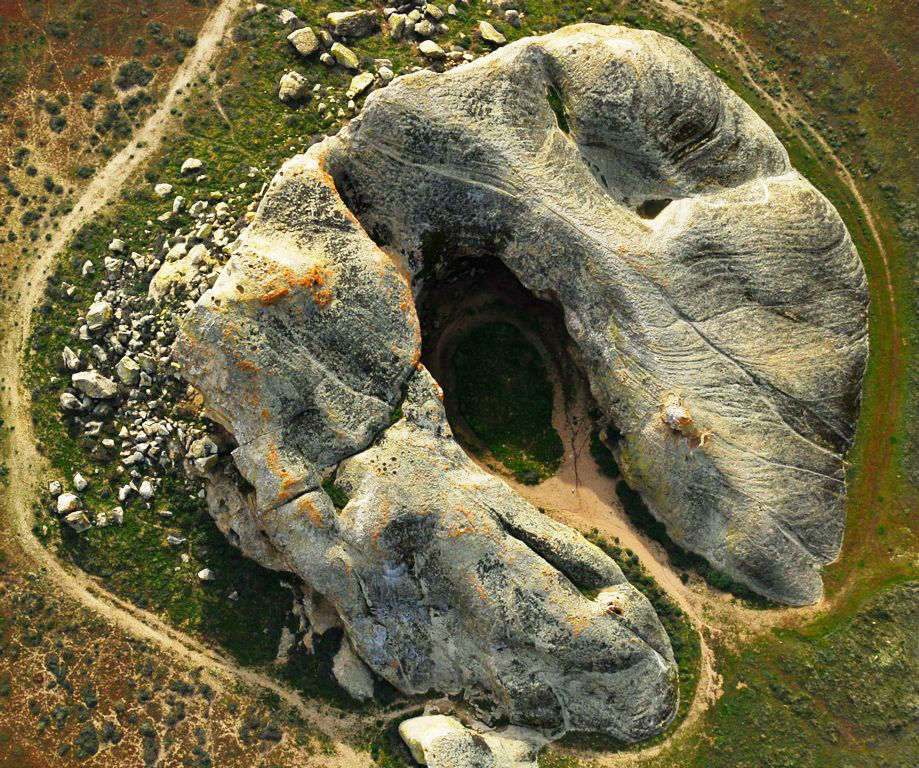 Aerial view of Painted Rock, Carrizo Plain National Monument, California