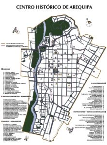 Arequipa city map, Peru