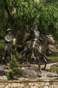 Sculpture of Señor Don Quixote, the Man from La Mancha, Guanajuato, Mexico