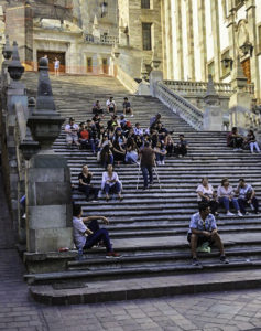 University Guanajuato steps- a favorite replace to rest