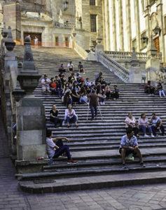 University Guanajuato steps- a favorite replace to rest