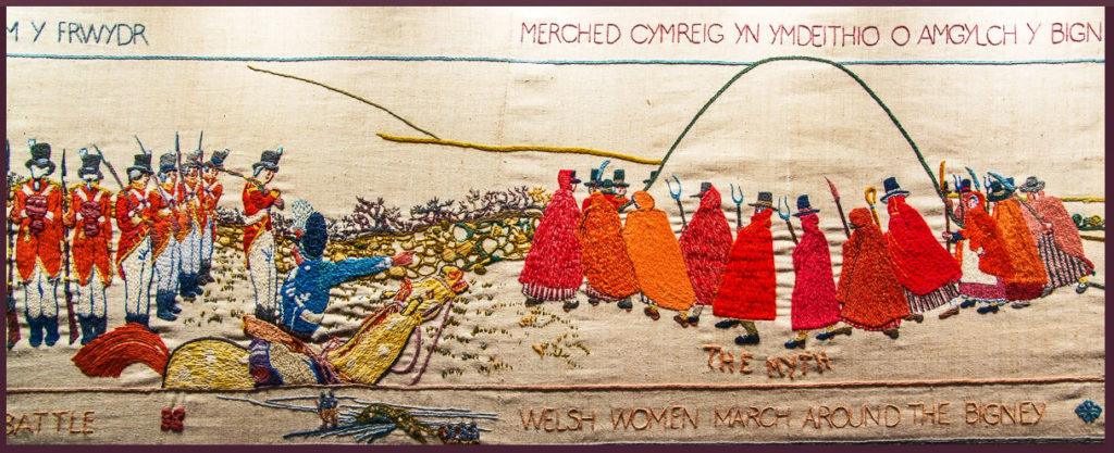 Section of Tapestri Abergwaun, Wales, UK