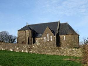 Mathry stone church, Wales, UK
