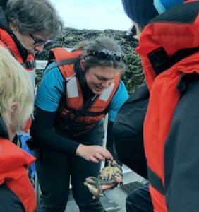 Naturalist Brittany, tide pools of Cedar Cove, Alaska