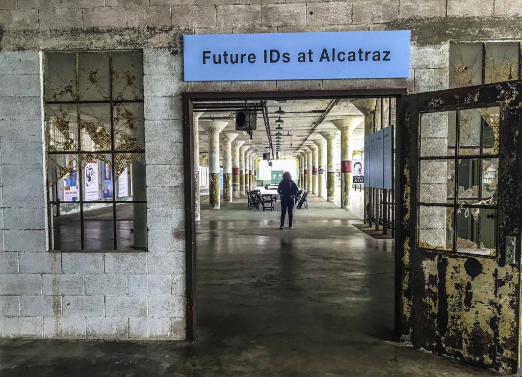 "Viva la Vida"" (Long Live Life) - one of the Future IDs at Alcatraz, San Francisco, CA"