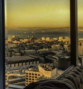 Sunset view from Cityscape, Hilton Union Square, San Francisco, CA
