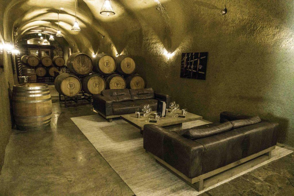 Thomas George cellar lounge, Russian River, Sonoma Coast AVA, Guerenville, CA