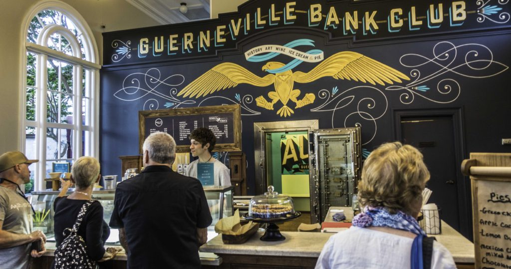 Guerneville Bank Club Ice Cream Parlor, Main Street, Guerenville, CA