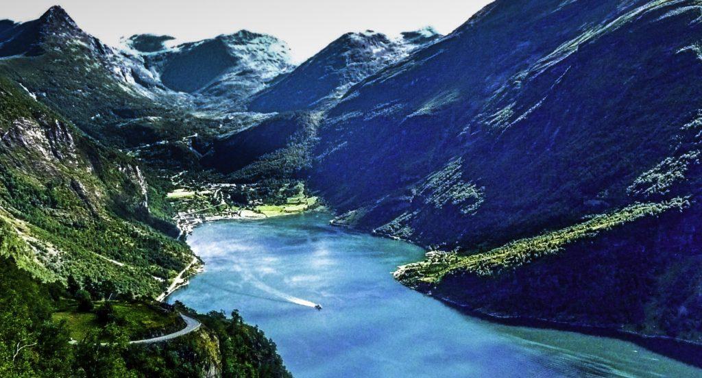 Hurtigruten Midnatsol cruise, Geiranger fjord, Norway