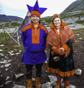 Hurtigen cruise on Midnatsol, Sami indigenous reindeer people, Norway