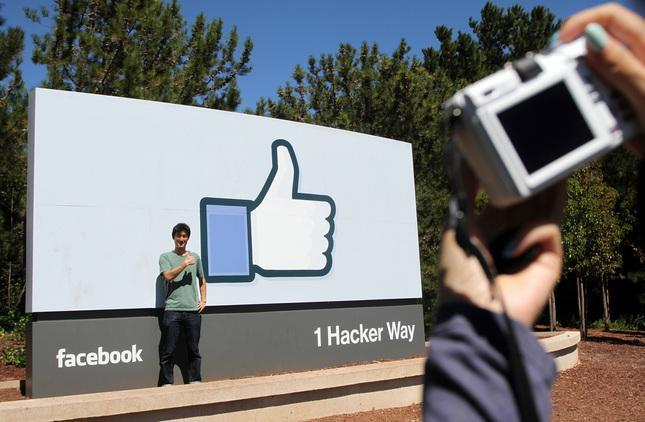 Popular selfie site at Facebook HQ. Photo: Kirstina Sangsahachart/Daily News