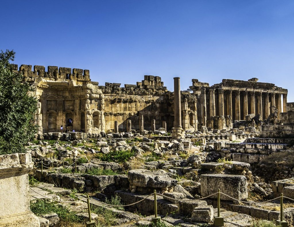 The great courtyard of the Baalbek complex, Bekaa Valley, Lebanon