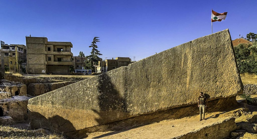 Hajar al-Hubla, one of the largest stones cut for construction in the world, Bekaa Valley, Lebanon
