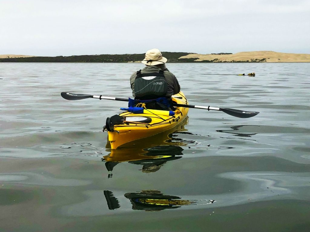 Kayaking on Moro Bay estuary, Moro Bay, California
