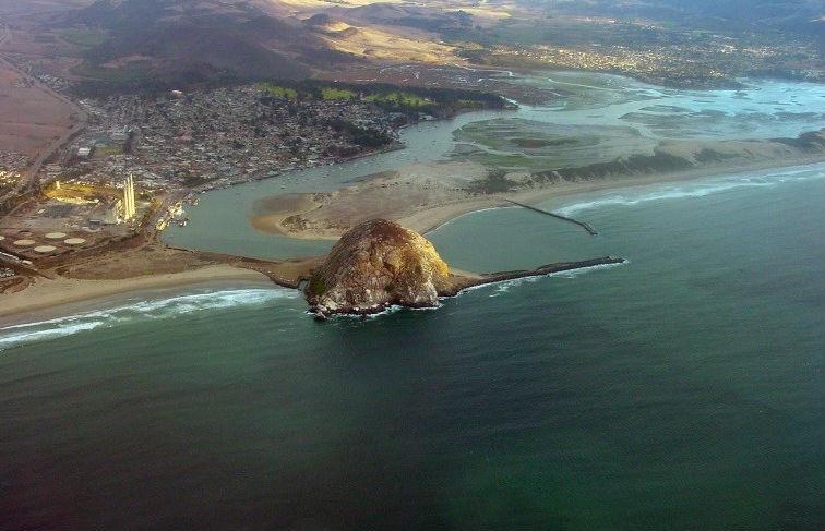 Morro Rock and Estuary, Moro Bay, California