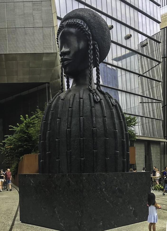 """Brick House"" sculpture, Simon Leigh, Whitney Museum, New York City"