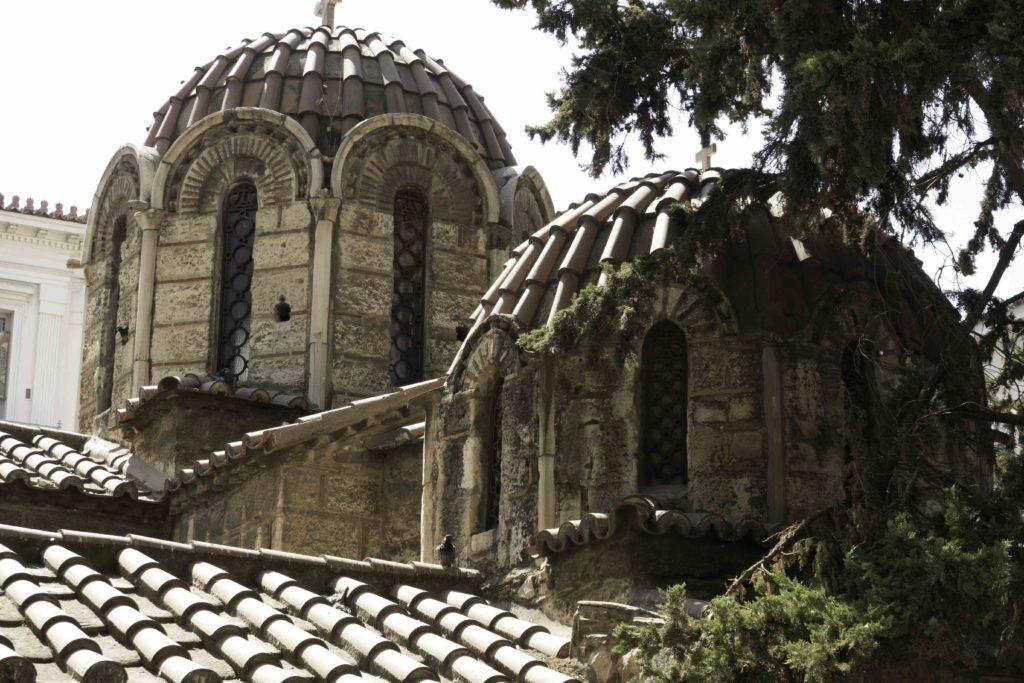 Byzantine church in Monastiraki, Athens, Greece