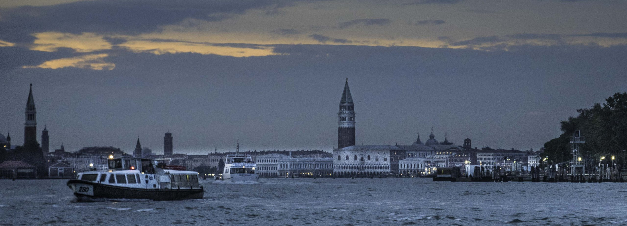 Saint Marks square at dusk, Venice, Italy