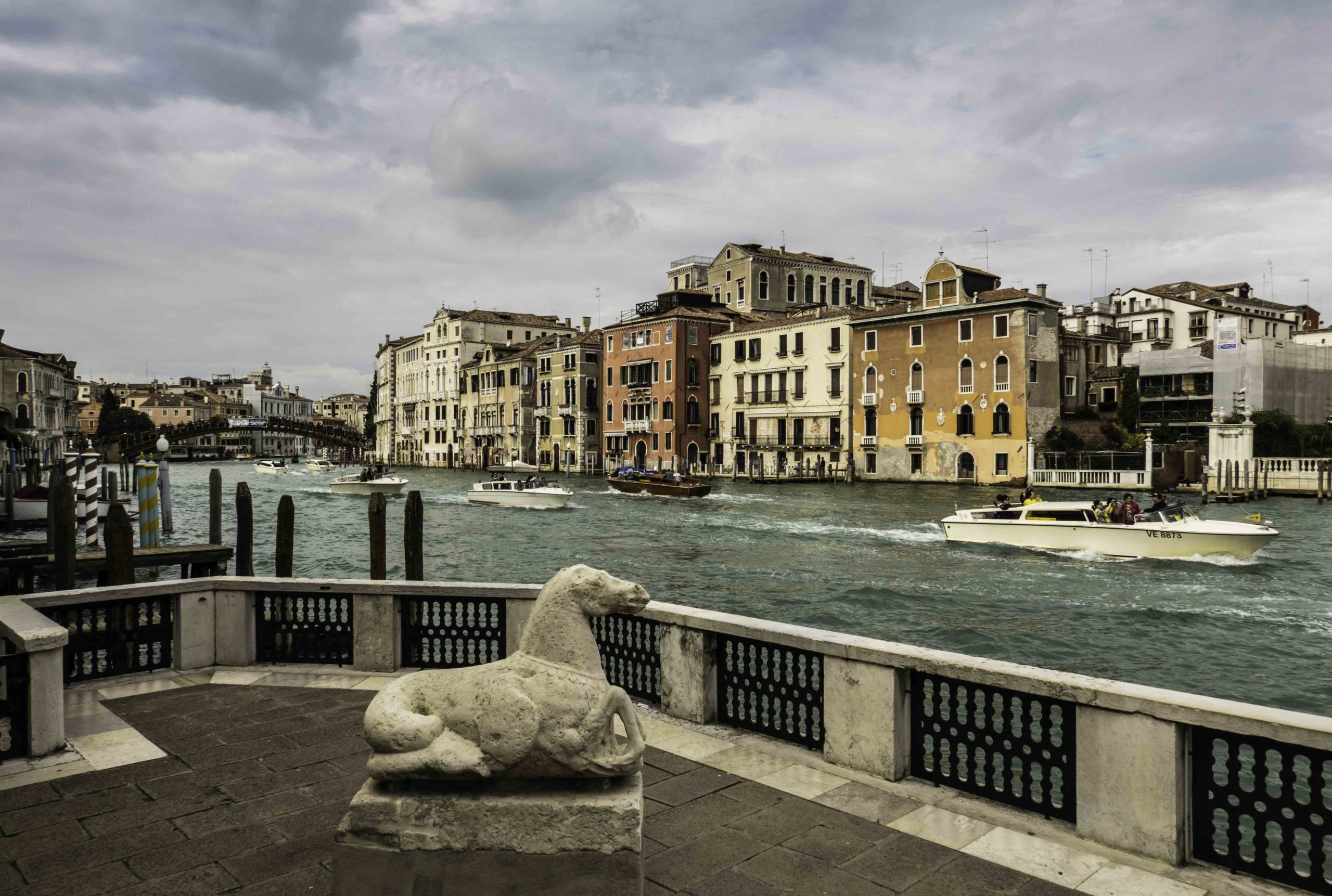 View of The Grand Canal from the Guggenheim museum, Venice, Italy