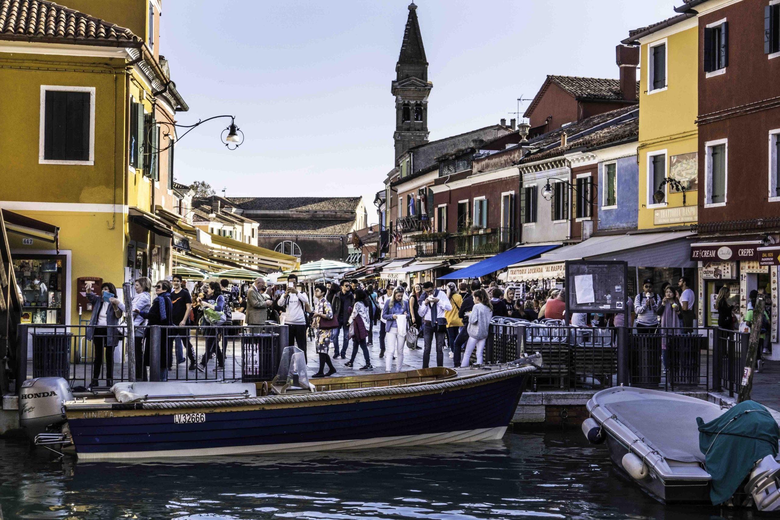 Piazza Baldassare Galuppi, Burano island, Venice lagoon, Venice, Italy
