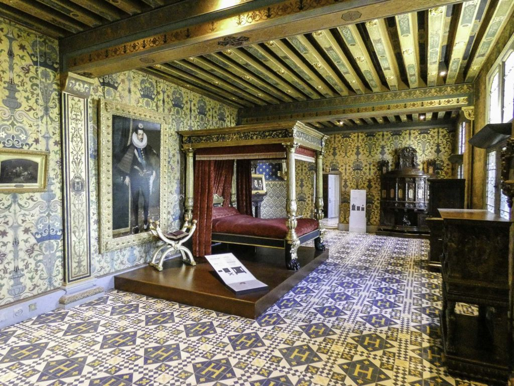 King's chamber in Blois, where the Duke of Guise was assassinated, Loire Valley, France