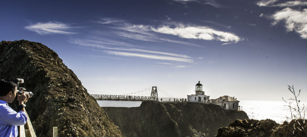 View of the Point Bonita Lighthouse, Marin Headlands, Golden Gate Recreation Area, San Francisco, California