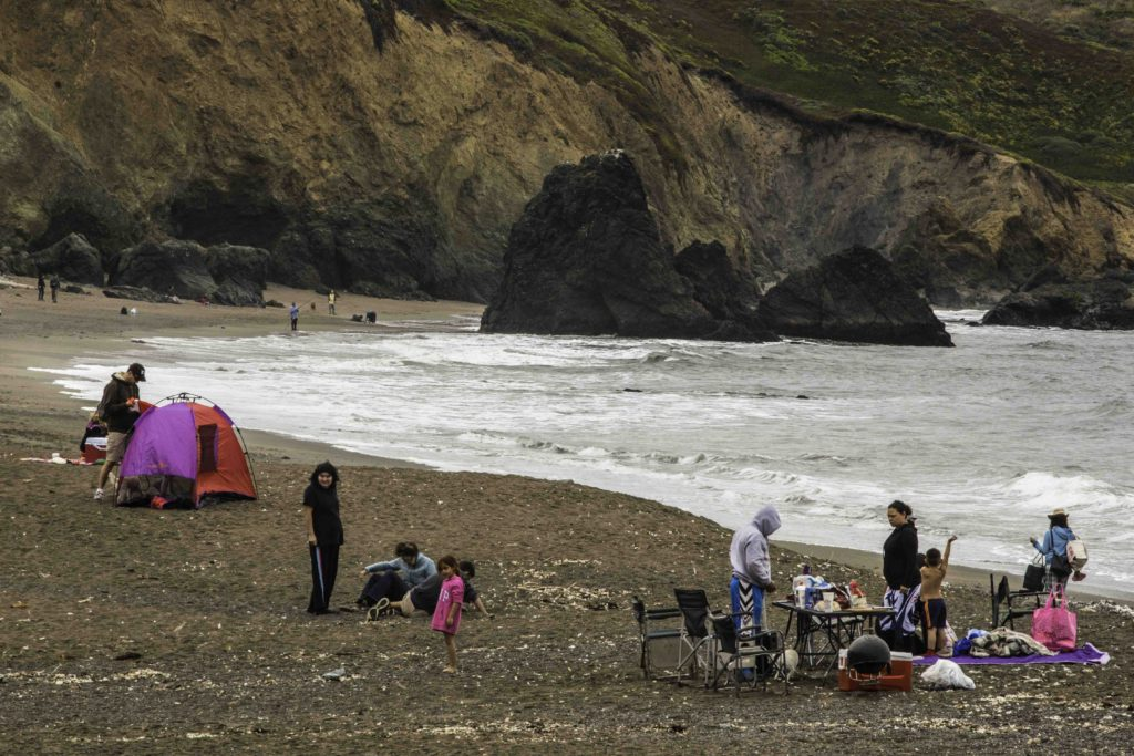 Family Time, Rodeo Beach, Marin Headlands, Golden Gate Recreation Area, San Francisco, California