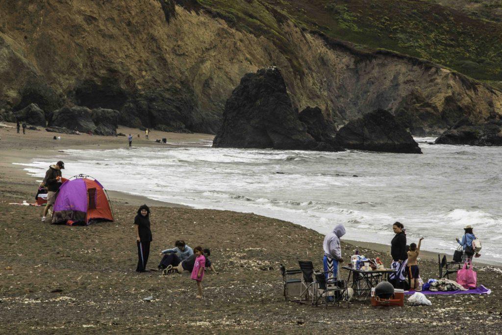 Family Time, Rodeo Beach, Marin Headlands, Golden Gate Recreation Area, San Francisco, California