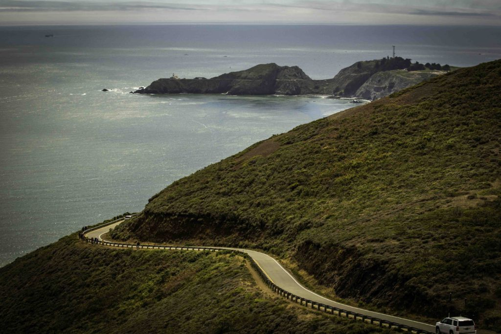 Conzelman Road to Point Bonita Lighthouse, Marin Headlands, Golden Gate Recreation Area, San Francisco, California