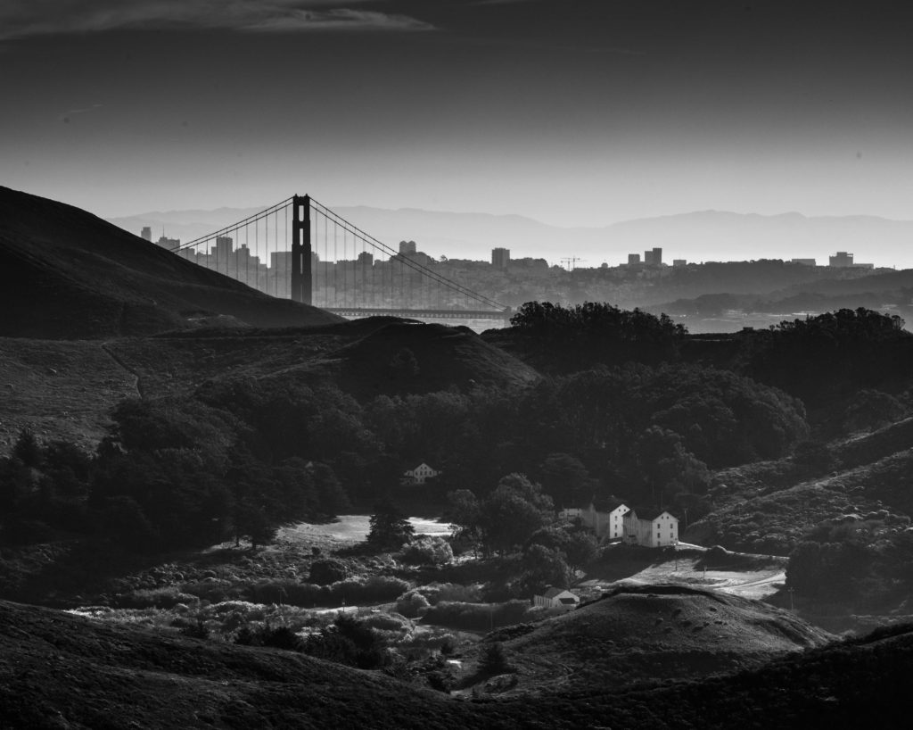 View from Battery Townsley, Fort Cronkhite, Marin Headlands, Golden Gate National Recreation Area, San Francisco, California