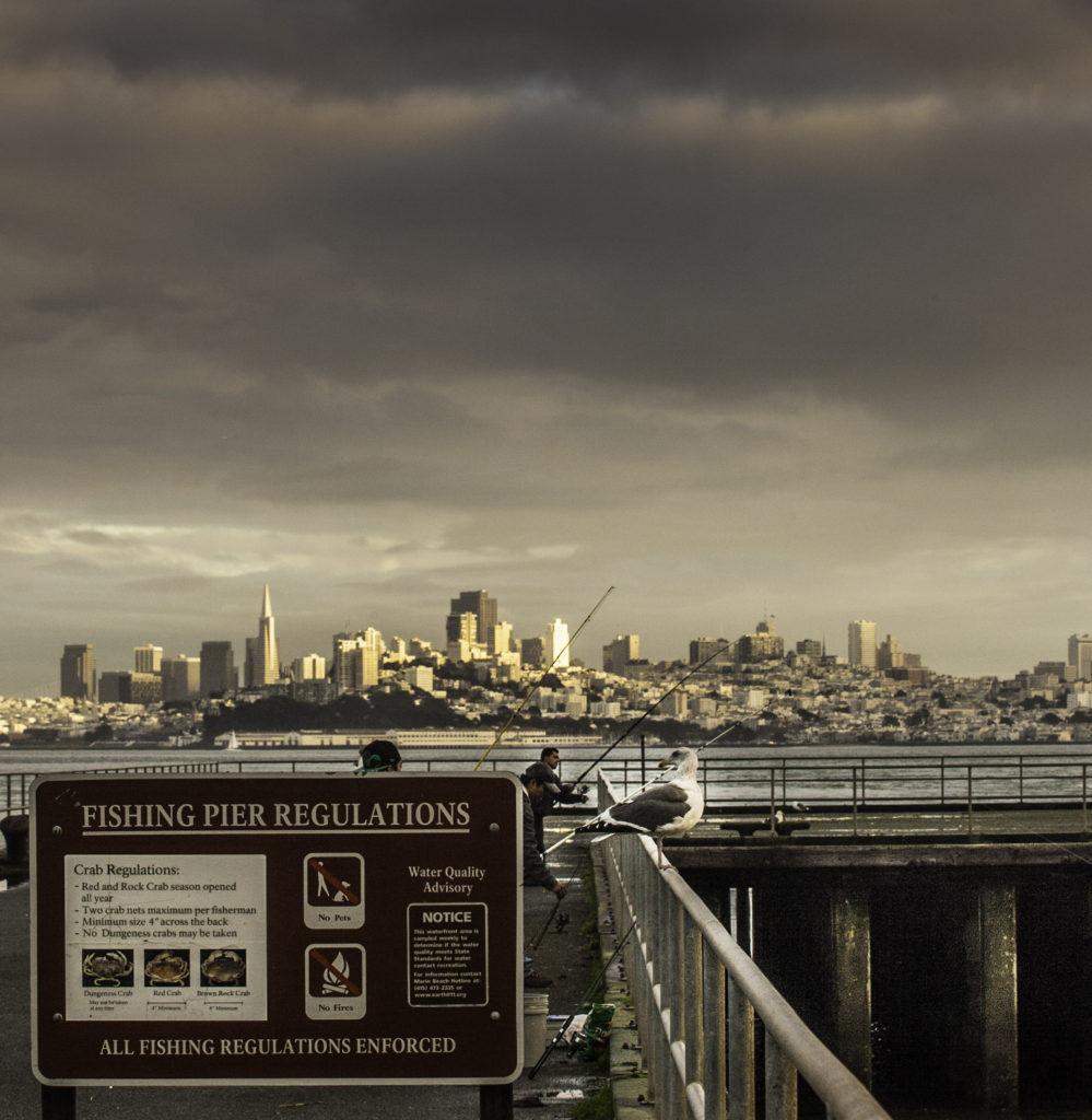 Fishing pier at Fort Baker, Marin Headlands, Golden Gate Recreation Area, San Francisco, California