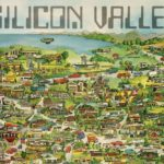 Note 1: Portion of 1982 Silicon Valley map by Maryanne Regal Hoburg. Courtesy: TheDavid Rumsey Map Center, Stanford University Library