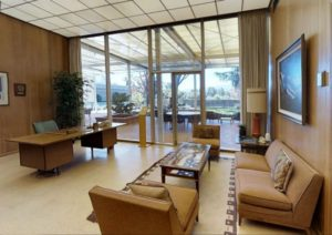 David Packard's office retains its 1950s decor, Palo Alto, California
