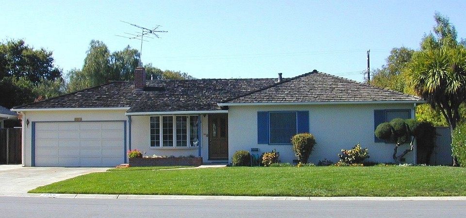 Steve Jobs's family home, Los Altos circa 2000, California
