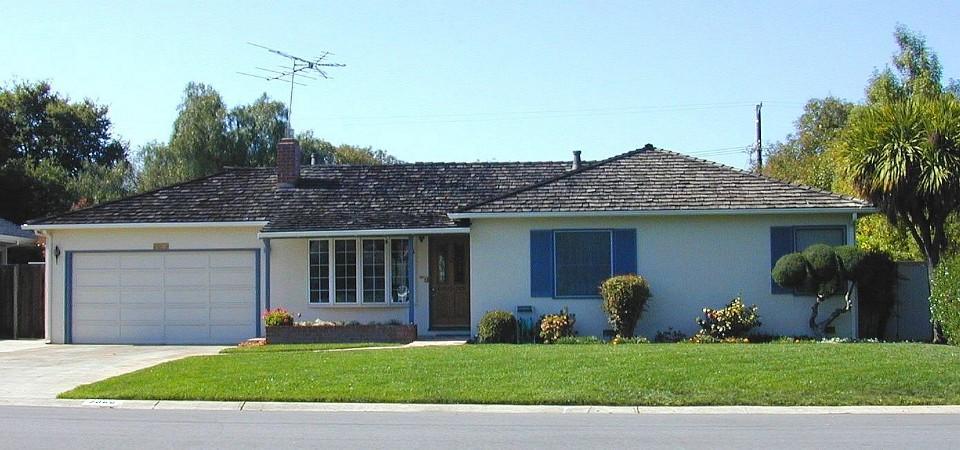 Steve Jobs's family home, Los Altos circa 2000, California