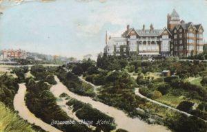 . Boscombe Chine Hotel. Postcard circa 1912