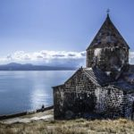 Sevanavank monastery on the shores of Lake Sevan, Armenia