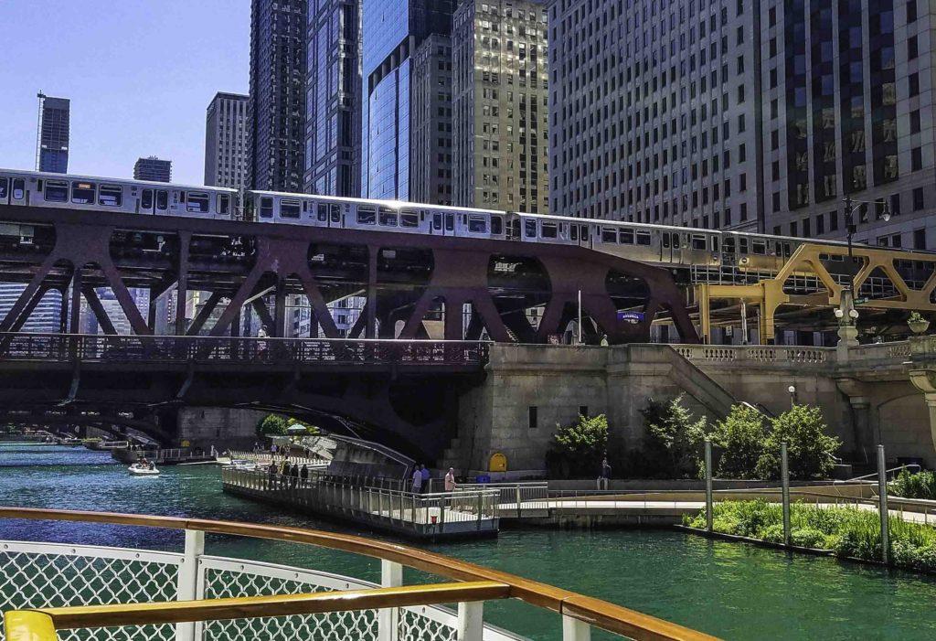 First Lady Cruise Riverwalk view, Chicago, Illinois
