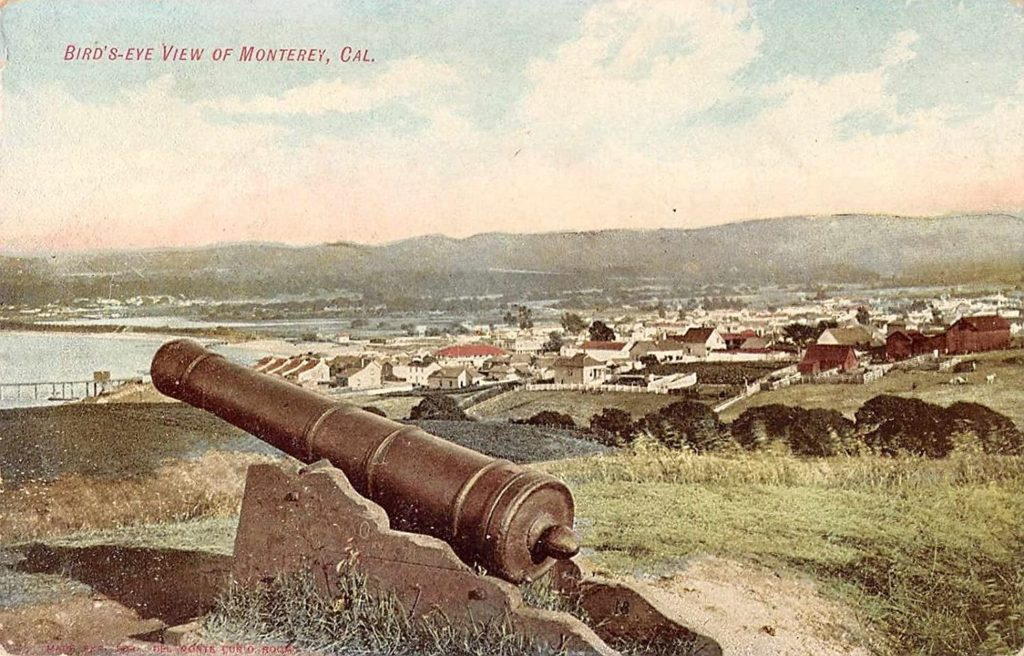 View from the site of Fort Mervine, circa 1905, Monterey, California