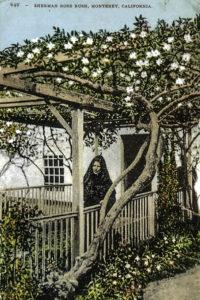 Senora Bonifacio and the Sherman Rose House, Monterey, California