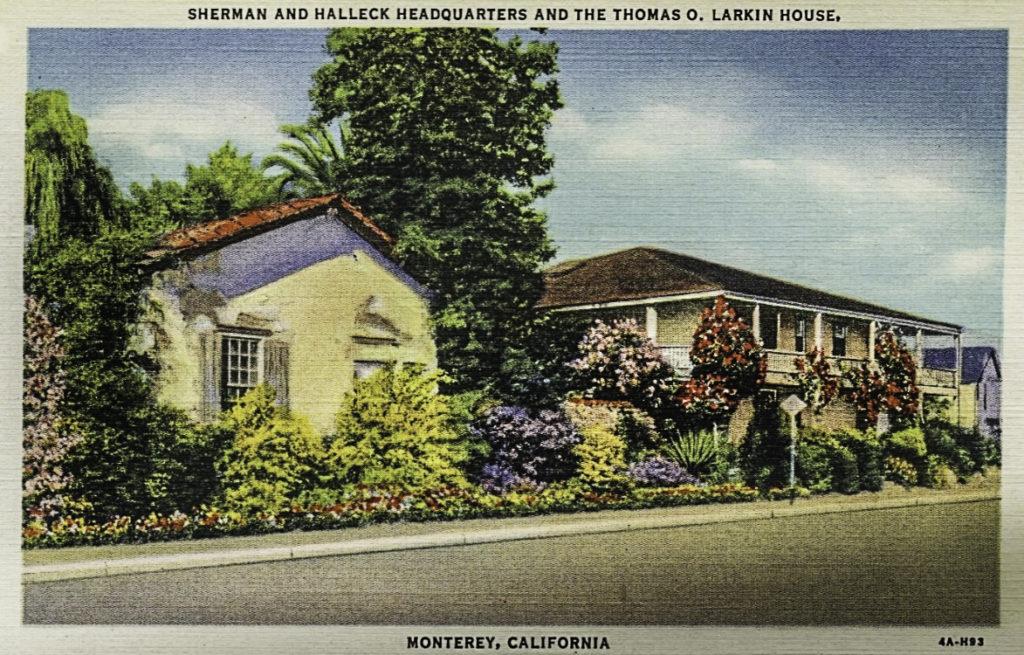 The Larkin House @1925, Monterey, California