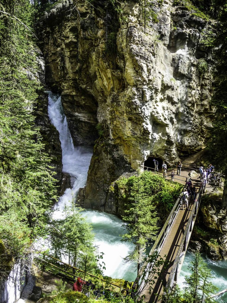 Johnston Canyon, Bow Valley Parkway, Jasper National Park, Alberta, Canada