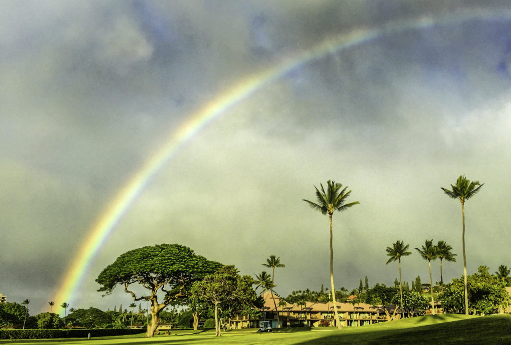 Ka'anapali rainbow, Maui, Hawaii