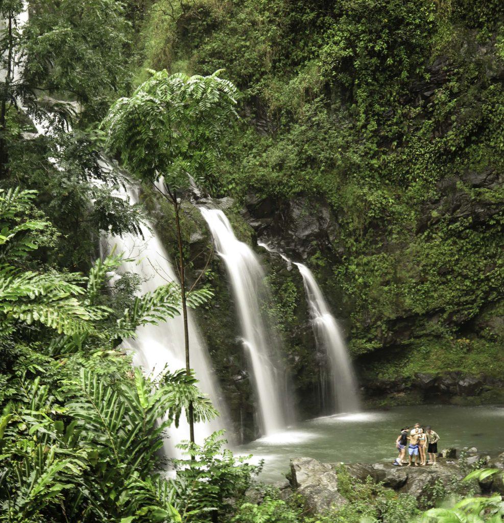 Upper Waikani Falls and Swimming Hole, Road to Hana, Maui, Hawaii