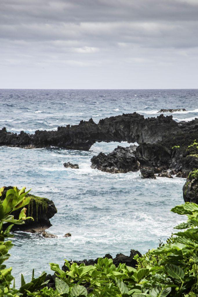 Sea Arch, Waianapanapa State Park, Road to Hana, Maui, Hawaii