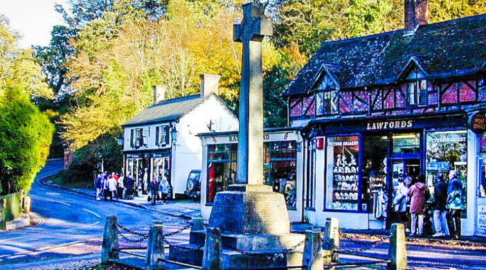 Burley Market Cross, New Forest National Park, Burley, Hampshire, UK