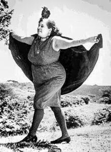 Sybil Leek with Mr. Hotfoot Jackson, Witchcraft, Burley, Hampshire, UK