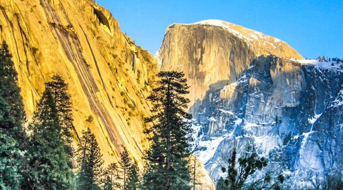 Half Dome at Yosemite in Winter, Yosemite National Park, California