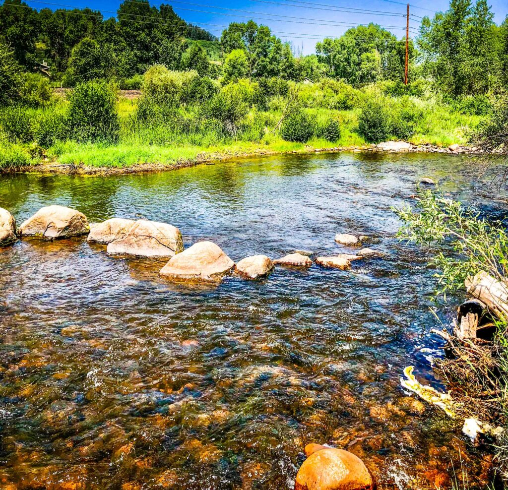 Drought on the Yampa River, Steamboat Springs, Colorado