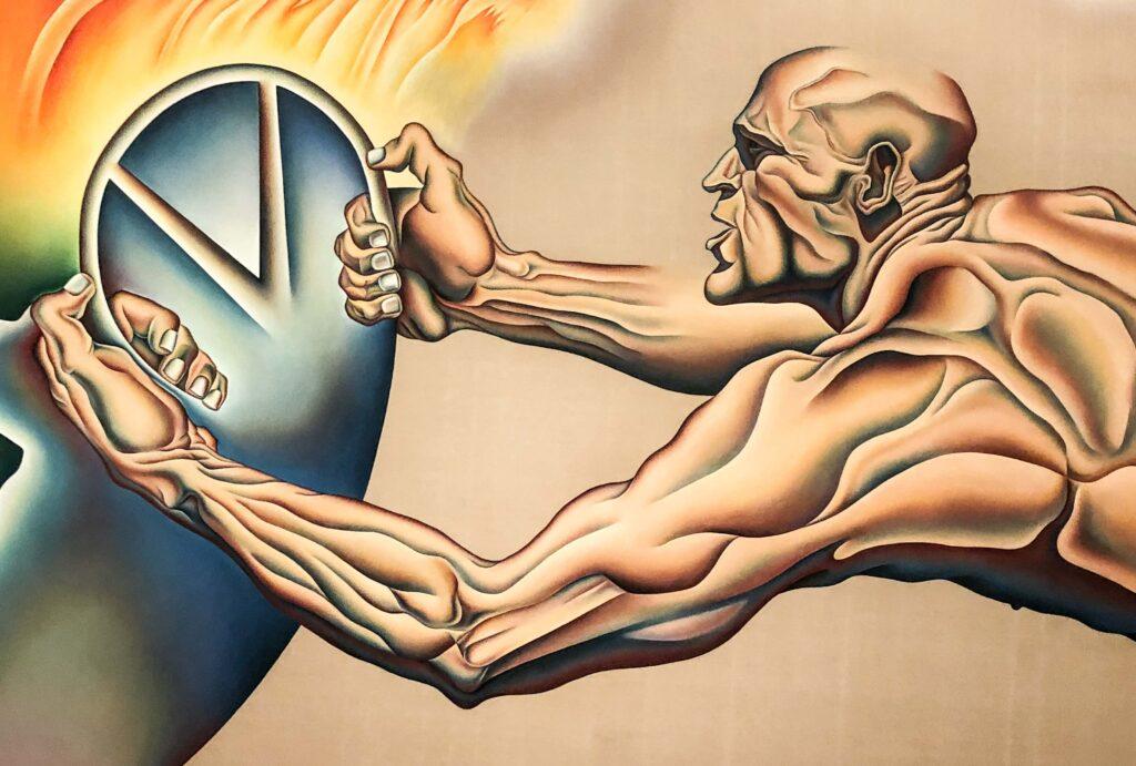 Driving the World to Destruction, Judy Chicago exhibit, San Francisco Museum of Modern Art, San Francisco, California